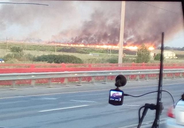 Появилось видео апокалиптического пожара под Ростовом-на-Дону
