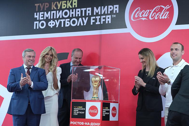 Кубок ЧМ-2018 FIFA сделал остановку на«Ростов-Арене»