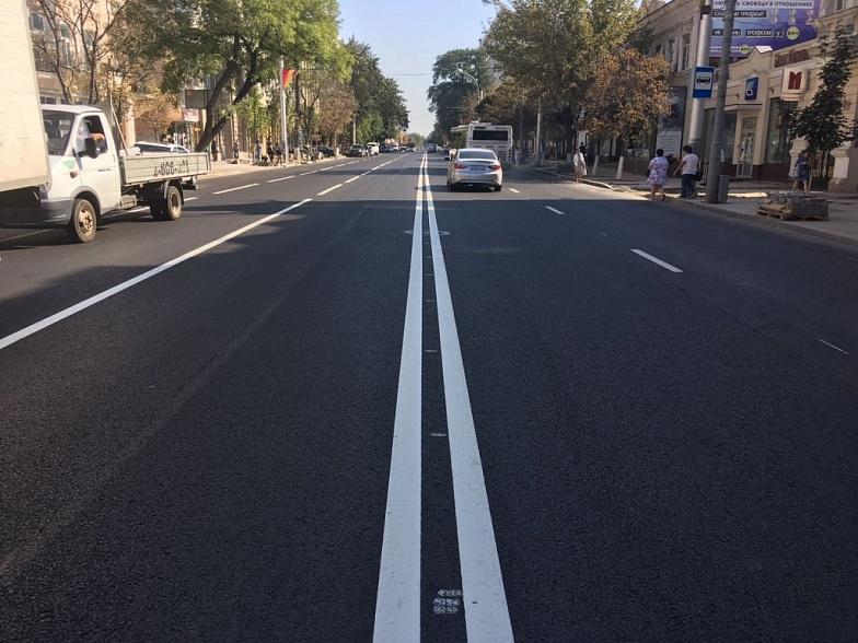 ВРостове завершили ремонт проезжей части улицы Большой Садовой